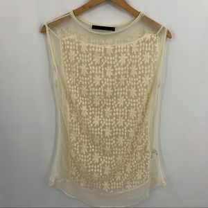 Zara ivory lace coverup size small